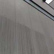 gereinigte Blechfassade im Vergleich – so kann's aussehen